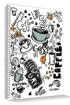 Çınar Defter UniNote Coffee Plastik Kapaklı Spiralli A4 Ebat 72 Yaprak Çizgili Defter - Thumbnail