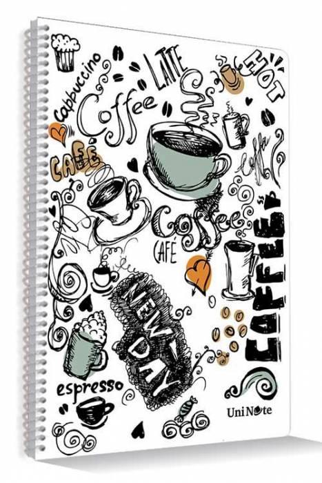 Çınar Defter UniNote Coffee Plastik Kapaklı Spiralli A4 Ebat 72 Yaprak Çizgili Defter