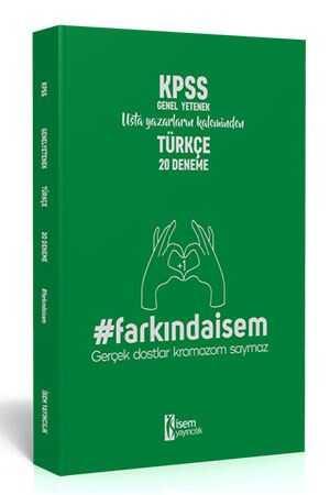 İsem 2020 Farkındaİsem KPSS Genel Kültür Türkçe 20 Deneme İsem Yayıncılık