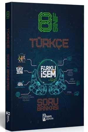 İsem 2021 8. Sınıf Farklı İsem Türkçe Soru Bankası İsem Yayıncılık