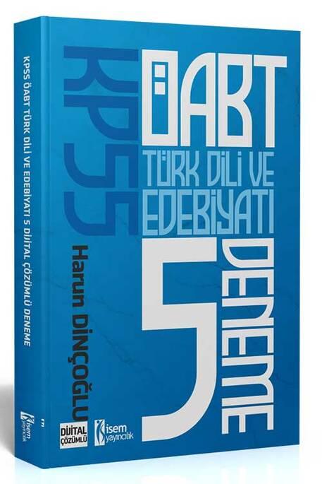 İsem 2021 KPSS ÖABT Türk Dili ve Edebiyatı Öğretmenliği Tamamı Çözümlü 5 Deneme İsem Yayıncılık