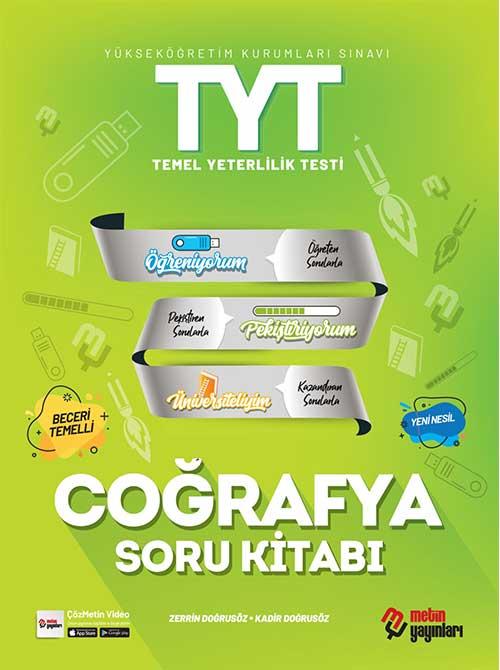 Metin 2022 TYT Coğrafya Video Çözümlü Soru Kitabı Metin Yayınları
