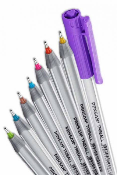 Pensan Triball Tükenmez Kalem Renkli 8 Li Set