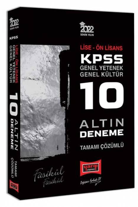 Yargı 2022 KPSS Lise Önlisans 10 Altın Fasikül Deneme Sınavı Yargı Yayınları